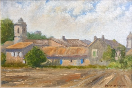 """Sold - Lagnes, Vaucluse, Provence 12""""x8"""" plein air oil on board"""