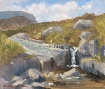"Annalong River, Mourne Mountains, Northern Ireland 12""x10"" plein air oil on board"