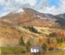 "Slieve Binnian South Tor, Mourne Mountains, Northern Ireland 12""x10"" Alla Prima oil on board"