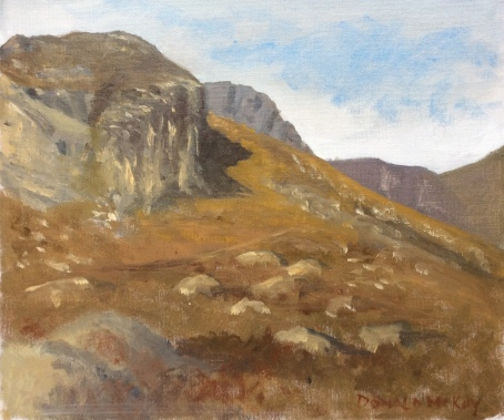 """Sold - Lower Cove, Annalong Valley, Mourne Mountains 12""""x10"""" plein air oil on board"""