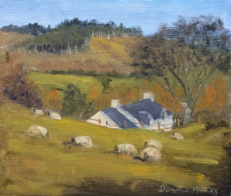 """Sold 'Mourne Cottage', Tollymore, Northern Ireland. 12""""x10"""" plein air oil on board"""
