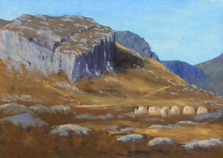 """Lower Cove,Mourne Mountains, Northern Ireland 14""""x10"""" oil on linen on board"""