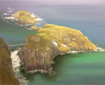 """Carrick-a-rede, Northern Ireland 20""""x16"""" oil on canvas"""