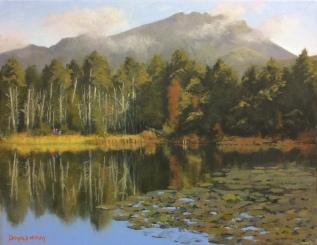 """'Sunday Stroll' Sally Lough, Silent Valley 14""""x18"""" oil on canvas"""