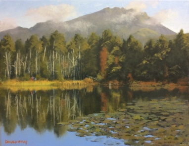 """Sold - 'Sunday Stroll' Sally Lough, Silent Valley 14""""x18"""" oil on canvas"""