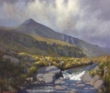"""Sold - 'Buzzards Roost', Mournes 20""""x24"""" oil on canvas"""