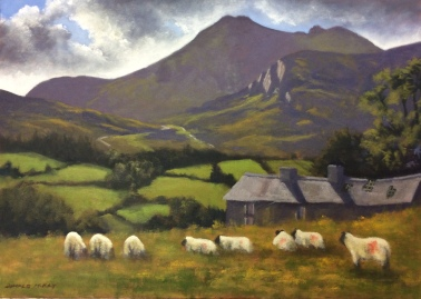 """Sold - 'Slieve Bernagh and Spellack', Mourne 20""""x28"""" plein air oil on canvas"""