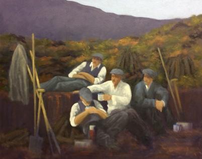 """'Well Deserved Break' Connemara, Ireland 16""""x20"""" oil on canvas"""