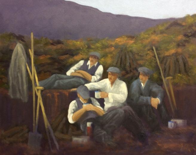 """Sold - 'Well Deserved Break' Connemara, Ireland 16""""x20"""" oil on canvas"""