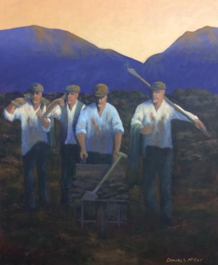 "'Coming off the Bog' Connemara, Ireland 24""x20"" oil on canvas"