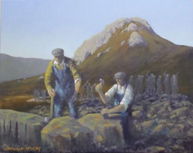 "'The Men of Granite' 16""x20"" oil on canvas"