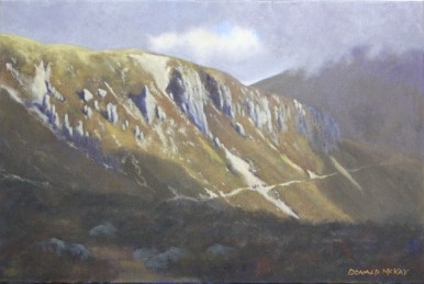 """'The Castles of Commedagh' Mournes, Ireland 16""""x24"""" oil on canvas"""
