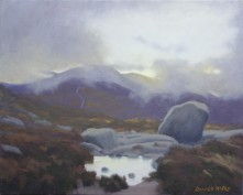 """'First Light', Mournes 16""""x20"""" oil on canvas"""