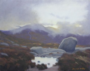 """Sold - 'First Light', Mournes 16""""x20"""" oil on canvas"""