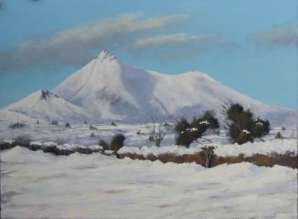 "'Winter Lockdown', Mourne 18""x24"" oil on canvas"