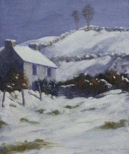 "Sold - 'Winter Sun', Mourne 12""x10"" oil on gesso board"