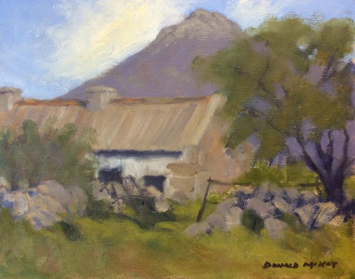 """Sold - 'Mourne Country' 10""""x12"""" plein air oil on gesso panel"""